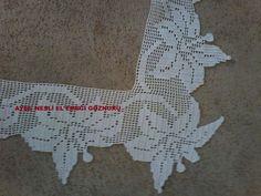 Filet Crochet, Crochet Borders, Crochet Art, Crochet Flowers, Easy Crochet, Diy Crafts Images, Diy And Crafts, Crochet Curtains, Crochet Tablecloth