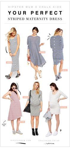 Perfect Striped Maternity Dresses