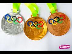 Olympische medailles knutselen - YouTube