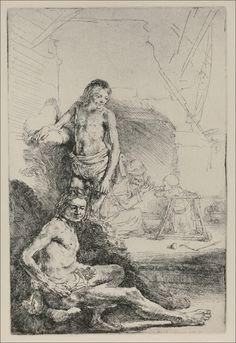 Two Academic Figures by Rembrandt van Rijn