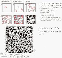YAH tangle by Emily Classon, Certified #Zentangle Teacher