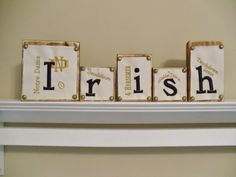 Irish Notre Dame Wooden Name Blocks with by EarlyYearsBoutique, $35.00