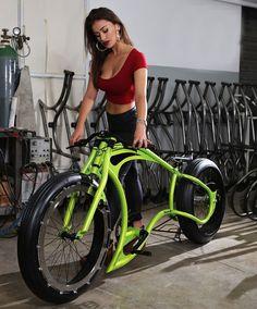 Motorcycle styled bicycle – Bikes – – Top Motorrad And Wallpaper Custom Velo, Custom Bikes, Cruiser Bikes, Velo Design, Bicycle Design, Fat Bike, Cool Bicycles, Cool Bikes, Chopper Moto