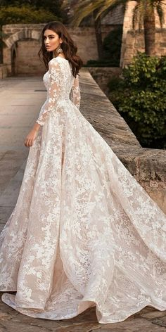 Wedding Gown naviblue 2019 bridal long sleeves bateau neck full embellishment elegant modest a line wedding dress covered lace back chapel train bv -- Naviblue 2019 Wedding Dresses Wedding Dress Sleeves, Long Wedding Dresses, Long Sleeve Wedding, Bridal Dresses, Dresses Dresses, Wedding Gown Lace, Wedding Dress Fails, Wedding Dress Train, Luxury Wedding Dress