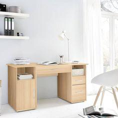 Arbeitszimmer Schreibtisch Farbe in Walnuß Dekor, Büromöbel Set