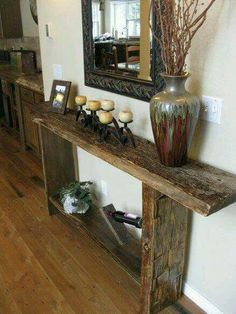Barnwood Furniture – Improve the look of your home - DIY Furniture Plans Barn Wood Decor, Barn Wood Projects, Reclaimed Wood Projects, Rustic Decor, Barnwood Ideas, Rustic Barn, Pallet Ideas, Barn Wood Crafts, Rustic Feel