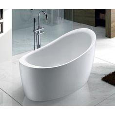 Gezien op beslist.nl: Adema eloise vrijstaand bad 130x68x78cm met badwaste acryl wit 319.b.19910