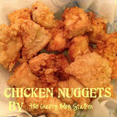 Homemade Chicken Nugget Recipe - I usually stick to vegetarian recipes, but my kids are nugget addicts. This looks healthier. And maybe eventually I could convert them to tofu nuggets? Homemade Chicken Nuggets, Chicken Nugget Recipes, Chicken Recipes For Kids, Great Recipes, Favorite Recipes, Recipe Chicken, Yummy Recipes, Recipe Ideas, Chicken Recepies