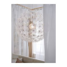IKEA Fan Favorite: MASKROS pendant lamp. This fan fave provides a beautiful design element to your room and also projects decorative patterns onto the ceiling and on the wall.