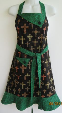 Handmade Retro style Fully lined Apron by ApronEcstasySewing, $42.00