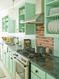 Why Don't You…paint your kitchen mint green?