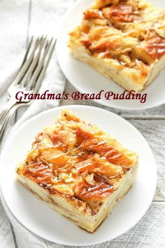 This bread pudding recipe is easy to make with just a few simple ingredients. Th… This bread pudding recipe is easy to make with just a few simple ingredients. This is one of our family's favorite recipes and perfect served with a big scoop of ice cream! Custard Bread Pudding, Savory Bread Puddings, Custard Cake, Best Pudding Recipe, Pudding Recipes, Delicious Desserts, Dessert Recipes, Jello Desserts, Delicious Cookies
