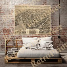 New London Connecticut CT 1876 Reproduction by RetroPrintmaker