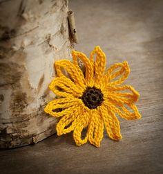 Crochet+Flower+PATTERN+Brown+Eyed+Susan+Flower+por+joyoustreasures,+$7.00