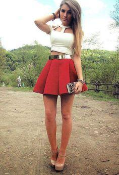 faldas cortas con tenis