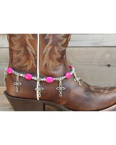 Boot Candy Pink Ovals with Oval Design Crosses.    $19.95