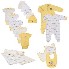 "Gerber Neutral 19 Piece Newborn Bundle Gift Set with Bodysuits, Footies, Receiving Blankets, Bibs and Hats - Gerber Childrenswear - Babies ""R"" Us"