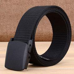 c93fb0aea3e Best YBT Unisex Belt Press buckle casual Outdoor sport prevent allergy Belt  Canvas Plastic buckle without