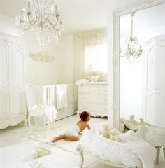 No baby room should be white, have a chandilier, yes, whit everything?  NO!