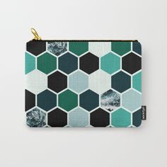 Carry All Pouch | Studio Pouch | Hexagon | Waves | Society6 | Fox & Ivy Studios