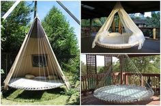 Image via We Heart It https://weheartit.com/entry/173153285/via/33532168 #bed #cot #couch #crafts #diy #interior #recycle #swing #trampoline