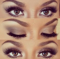 Brown and nude, perfect eye shadow combination