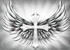 how to draw a cross with wings how to draw a cross with wings Related posts: Image could contain: Mini tattoo on the wrist – small cross of Christ Winziges Weirdling – These beautiful wings on charcoal black background are suitable for a … Cool Cross Tattoos, Cross With Wings Tattoo, Cross Tattoo For Men, Cool Small Tattoos, Chest Tattoo Drawings, Chest Piece Tattoos, Rose Tattoos For Women, Tattoos For Guys, Alas Tattoo