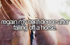 I've fallen off 3 times, all of which were from being forced to do things I wasn't comfortable with on a horse I didn't know, by a crappy instructor. But I've got a different instructor now who is very understanding and thanks to my amazing horse I've gained all my confidence back! :D