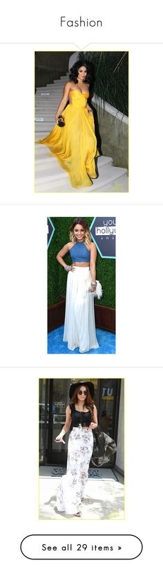"""""""Fashion"""" by justonelonelygirl ❤ liked on Polyvore featuring vanessa hudgens, dresses, gowns, models, red carpet, people - vanessa hudgens, selena gomez, selena, emma and demi lovato"""