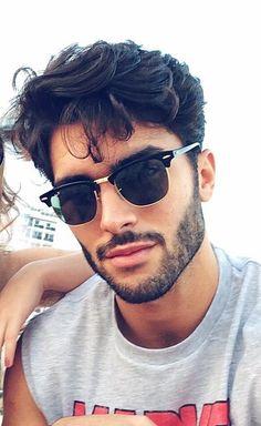 Golden D-Frame Glasses for Men