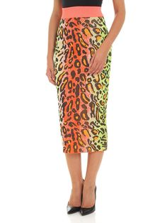 STELLA MCCARTNEY LEOPARD PRINT PENCIL SKIRT. #stellamccartney #cloth
