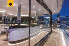 A Closer Look at Kismet from Lurssen Yachts Lurssen Yachts, Superyacht Charter, Deck Boat, Below Deck, Most Expensive, Models, Bathtub, Interior, Design