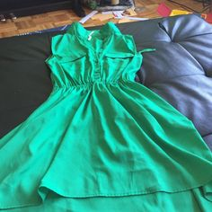 Green dress size S Beautiful green dress -S- truth NYC brand- great condition only worn once! Truth NYC Dresses