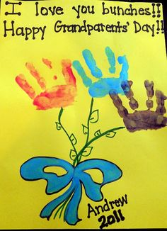 Unique Crafting Ideas for Grandparents Day: An easy event will have very low fees. Many faculties cowl the minimal fees incurred. Toddler Crafts, Preschool Crafts, Crafts For Kids, Children Crafts, Grandparents Day Cards, Grandparent Gifts, Kids Hands, Message Card, Infant Activities