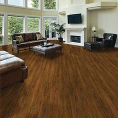 TrafficMaster Allure Ultra 7.5 in. x 47.6 in. Vintage Oak Cinnamon Resilient Vinyl Plank Flooring (19.8 sq. ft./case)-517115 at The Home Dep...