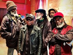 Toronto reggae royalty: Anthony Hibbert, Adrian Miller, Jerry Brown, Tony Moore & King Culture.