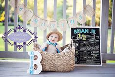Printable Half Birthday Chalkboard Photo Prop by MMasonDesigns