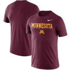59559f94 Minnesota Golden Gophers Nike 2018 Facility Dri-FIT Cotton T-Shirt – Maroon