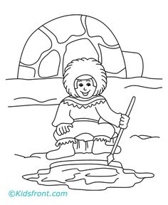 three snow bears husky pups coloring page the three snow bears - Arctic Colouring Pages