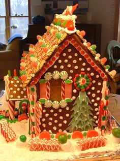 Gingerbread Polka Dot and Tree