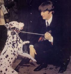 John Lennon (and a dalmatian)
