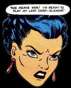 NO, Not the Glamour Card!!!!Ha Ha Ha, Funny Vintage Comic Book Art.