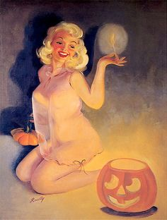 Vintage Halloween Pin-Up