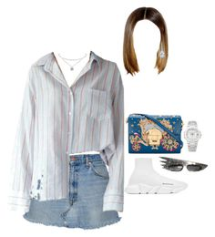 """""""Having lunch with family in Beverly Hills"""" by nytown ❤ liked on Polyvore featuring Balenciaga, Dolce&Gabbana, Tiffany & Co. and Patek Philippe"""