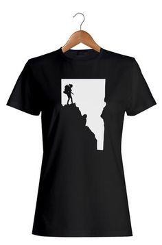 Woman Hiker T-Shirt #Apparel  #GoOutLocal #OnlyinIdaho #Boise #WomensTShirt #Hike