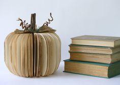 Vintage Book Pumpkin for Fall. Fun.