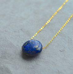 Lapis lazuli necklace Blue lapis necklace Lapis lazuli by inBeads