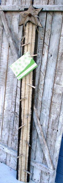 Rustic Christmas Card Holder