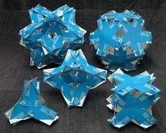 5 platonic solids made with business cards Fun Crafts, Paper Crafts, Platonic Solid, Three Dimensional, Business Cards, Objects, Household, Website, Architecture