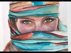 Watercolor Desert Woman Painting Demo - YouTube